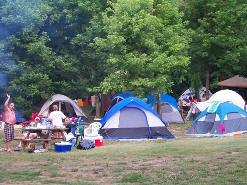 Campground on the Current River : Campground Doniphan MO